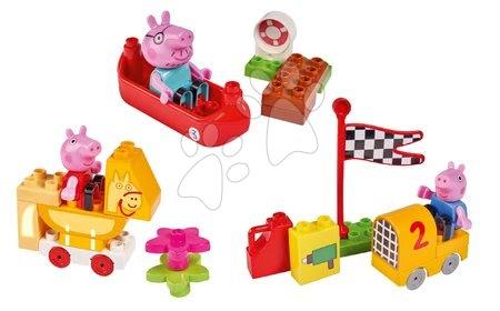 Peppa Pig - Épitőjáték Peppa Pig Starter Sets PlayBIG Bloxx figurával - 3 fajta épitőjáték készlet 18 hó-tól