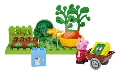 Peppa Pig - Épitőjáték Peppa Pig Basic Sets II. PlayBIG Bloxx figurával a kertben 18 hó-tól
