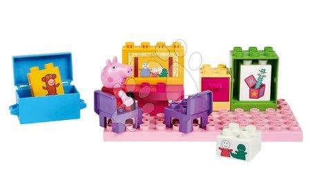 Peppa Pig - Épitőjáték Peppa Pig Basic Sets II. PlayBIG Bloxx figurával a szobában 18 hó-tól