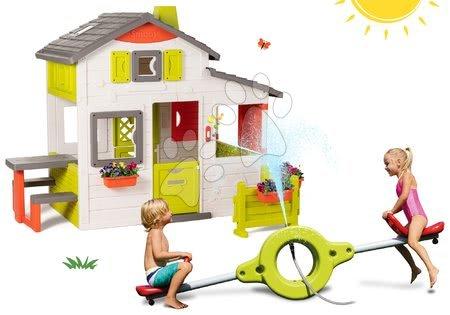 novi-proizvod - Set kućica Prijatelja Smoby s prednjim vrtom i dvostranom klackalicom 360° rotacija s vodoskokom