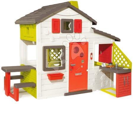 Domeček Friends House Smoby s kuchyní a plnými dveřmi