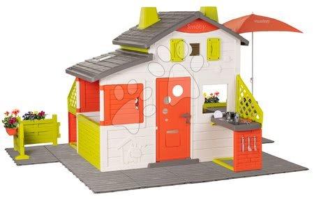 - Házikó Neo Friends House DeLuxe Smoby esti megvilágitással és két bejárat 2 konyhával_1