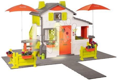 Házikó Neo Friends House DeLuxe Smoby két piknik résszel és hátsó konyhával