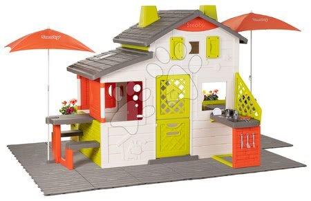 - Házikó Neo Friends House DeLuxe Smoby két piknik résszel és hátsó konyhával_1