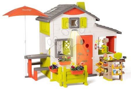 Smoby - Domeček Neo Friends House DeLuxe Smoby s Bio kavárnou a kuchyňkou na rohu ulice