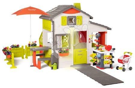 - Házikó Neo Friends House DeLuxe Smoby szupermarkettel és kerti konyhácskával étkezőrésszel