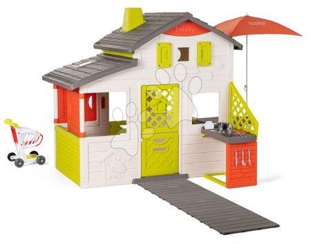 - Házikó Neo Friends House DeLuxe Smoby szupermarkettel és kerti konyhácskával étkezőrésszel_1