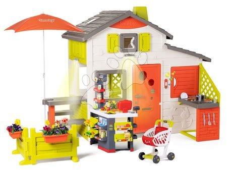 Smoby - Domeček Neo Friends House DeLuxe Smoby a nákupní centrum s restaurací