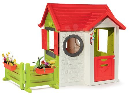 Domček My House Smoby s 2 dverami so zvončekom a záhradkou od 24 mes