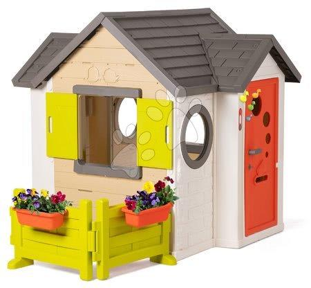 Domečky pro děti - Domeček My House Smoby se zahrádkou a plnými dveřmi a zvonkem od 24 měsíců