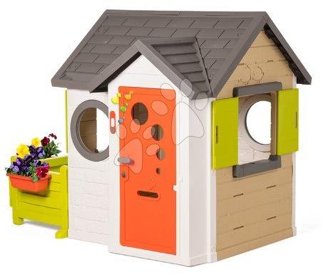 Domečky pro děti - Domeček My House Smoby se zahrádkou a plnými dveřmi a zvonkem od 24 měsíců_1