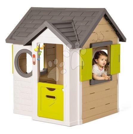 Princese - Set kućica My Neo House DeLuxe Smoby sa zvoncem i dvoma vratima te tobogan Princeze Toboggan s kolicima od 24 mjeseca_1