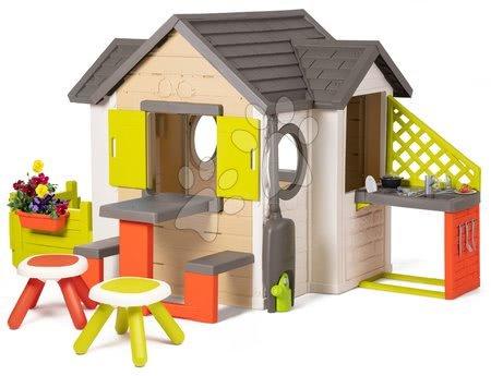 Domečky pro děti - Domeček My Neo House DeLuxe Smoby s nadstavbovým řešením a 2 stolky