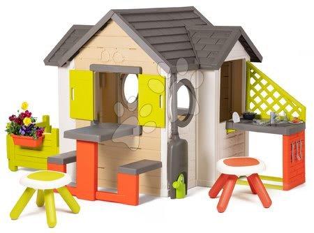 Domečky pro děti - Domeček My Neo House DeLuxe Smoby s nadstavbovým řešením a 2 stolky_1