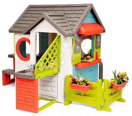 Domečky pro děti - Domeček se zahradní restaurací Chef House DeLuxe Smoby s komplet nástavbovým řešením