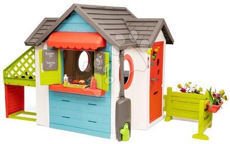 Domečky pro děti - Domeček se zahradní restaurací Chef House DeLuxe Smoby s vnější kuchyní a zahradou