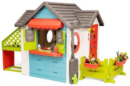 Domečky pro děti - Domeček se zahradní restaurací Chef House DeLuxe Smoby s vnější kuchyní a zahradou_1
