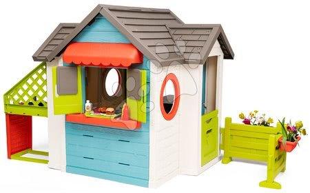 Domečky pro děti - Domeček se zahradní restaurací Chef House DeLuxe Smoby s nástavbovým řešením a stolečkem_1