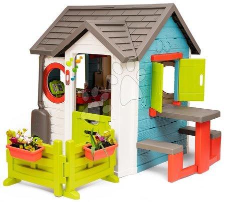 Domečky pro děti - Domeček se zahradní restaurací Chef House DeLuxe Smoby se stolem a předzahrádkou