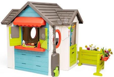 Domečky pro děti - Domeček se zahradní restaurací Chef House DeLuxe Smoby se stolem a předzahrádkou_1
