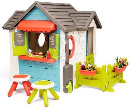 Domečky pro děti - Domeček se zahradní restaurací Chef House DeLuxe Smoby se dvěma stolky a zahrádkou