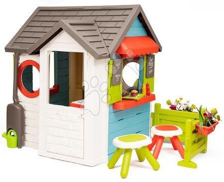 Domečky pro děti - Domeček se zahradní restaurací Chef House DeLuxe Smoby se dvěma stolky a zahrádkou_1