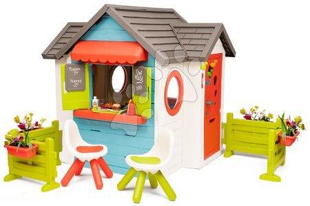 Domečky pro děti - Domeček se zahradní restaurací Chef House DeLuxe Smoby se dvěma zahrádkami a židlemi