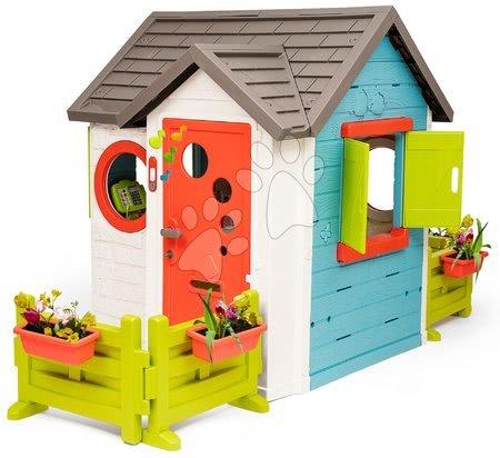 Domečky pro děti - Domeček se zahradní restaurací Chef House DeLuxe Smoby se dvěma zahrádkami a židlemi_1
