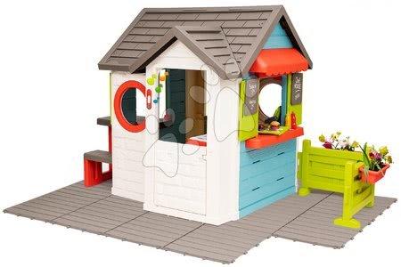 Domečky pro děti - Domček so záhradnou reštauráciou Chef House DeLuxe Smoby so stolom a predzáhradkou na podlahe SM810221-U_1