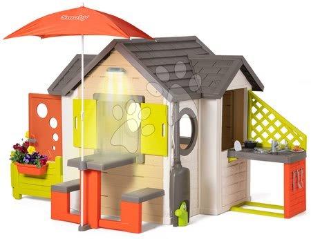 novi-proizvod - Kućica prirodna My New House Smoby s proširenjima pod suncobranom i potpunom opremo_1