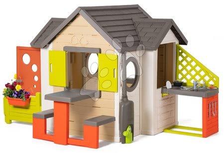 novi-proizvod - Kućica prirodna My New House Smoby s proširenjima i potpunom opremo od 24 mjes_1