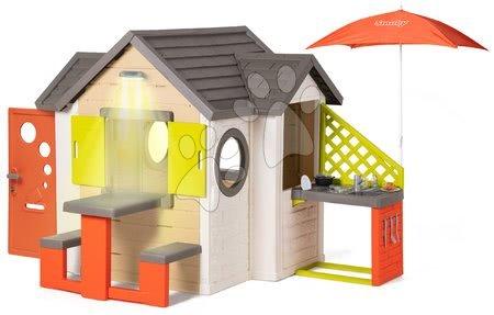 novi-proizvod - Kućica prirodna My New House Smoby s proširenjima i kuhinjom pod suncobranom od 24 mjes_1