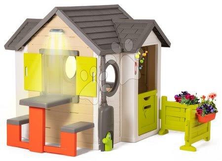 Domečky pro děti - Domeček přírodní My New House Smoby rozšiřitelný s lavicí na zahradě od 24 měsíců_1
