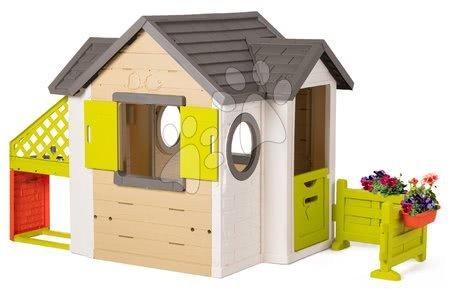 novi-proizvod - Kućica prirodna My New House Smoby s proširenjem s kuhinjom i kutkom za jelo od 24 mjes_1