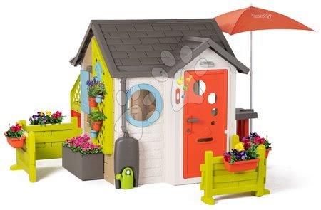 Smoby - Domeček pro zahradníka Garden House Smoby výjimečně rozšiřitelný s komplet výbavou a bohatou zahrádkou od 24 měsíců