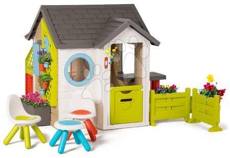 Smoby - Domeček pro zahradníka Garden House Smoby výjimečně rozšiřitelný s třemi židlemi od 24 měsíců