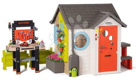 Hračky pre chlapcov - Domček pre záhradníka Garden House Smoby výnimočne rozšíriteľný s pracovným kútikom od 24 mes