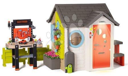 Hračky pre chlapcov - Domček pre záhradníka Garden House Smoby výnimočne rozšíriteľný s pracovným kútikom od 24 mes_1