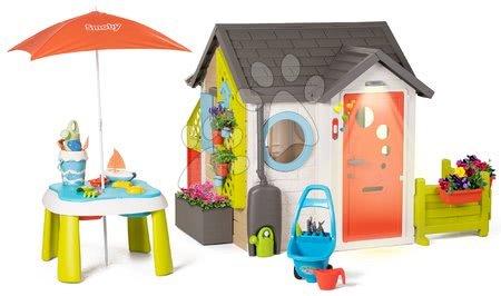 Igračke za djecu od 2 do 3 godine - Vrtna kućica Garden House Smoby s izuzetnom opremom i pješčanikom pod suncobranom od 24 mjes_1