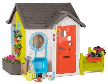 Domečky pro děti - Domeček pro zahradníka Garden House Smoby výjimečně rozšiřitelný se zahradním nářadím od 24 měsíců