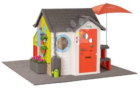Igračke za djecu od 2 do 3 godine - Domček pre záhradníka Garden House Smoby výnimočne rozšíriteľný s pieskoviskom a stolčekmi SM810223-L