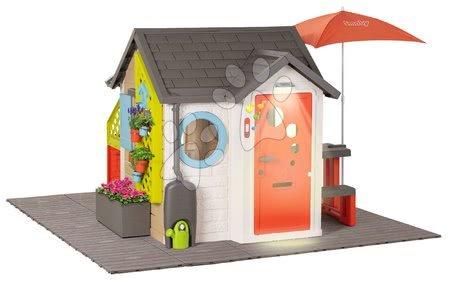 Igračke za djecu od 2 do 3 godine - Domček pre záhradníka Garden House Smoby výnimočne rozšíriteľný s pieskoviskom a stolčekmi SM810223-L_1