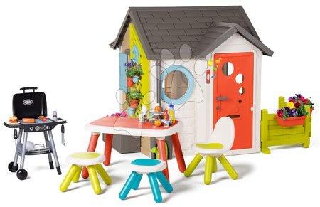 Igračke za djecu od 2 do 3 godine - Vrtna kućica Garden House Smoby s izuzetnom opremom s Bio kavanom i roštiljem od 24 mjes