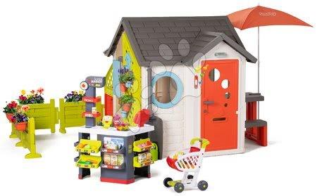 Igračke za djecu od 2 do 3 godine - Vrtna kućica Garden House Smoby s izuzetnom opremom i supermarketom na vrtu od 24 mjes_1