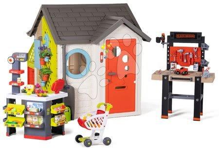 Igračke za djecu od 2 do 3 godine - Vrtna kućica Garden House Smoby s izuzetnom opremom i radnim kutkom na vrtu
