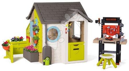 Smoby - Domeček pro zahradníka Garden House Smoby výjimečně rozšiřitelný s pracovní dílnou