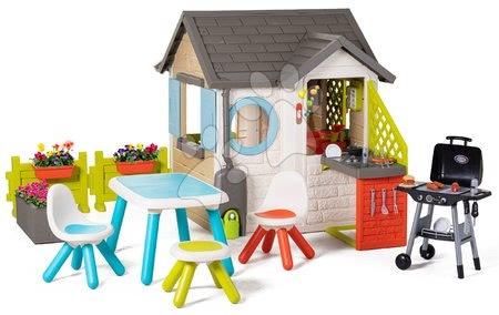 Igračke za djecu od 2 do 3 godine - Vrtna kućica Garden House Smoby s izuzetnom opremom i roštilj u restoranu od 24 mjes