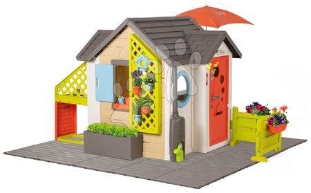Házikó kis kertész részére Garden House Smoby kivételesen bővithető komplett alap felszereléssel 24 hó-tól