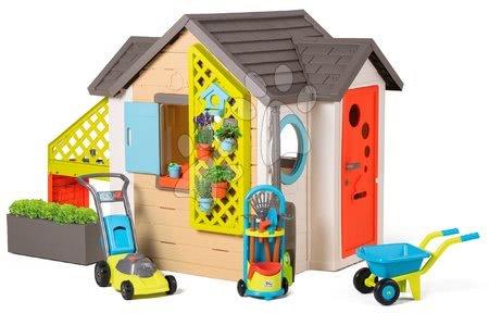 novi-proizvod - Vrtna kućica Garden House Smoby s izuzetnom opremom i kosilicom, tačkama te kolicima s alatom od 24 mjes