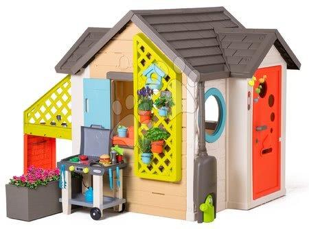 novi-proizvod - Vrtna kućica Garden House Smoby s izuzetnom opremom i roštiljem s hamburgerima od 24 mjes
